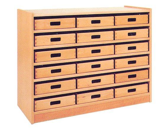 Welp Kast met 18 houten bakken - Capi Education YB-07